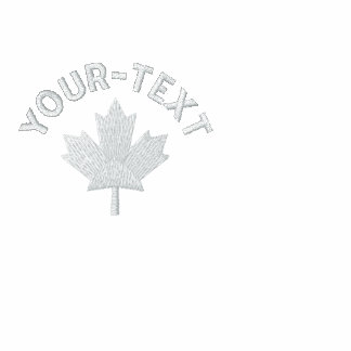 Canada Zip Hoodie - White Canada Maple