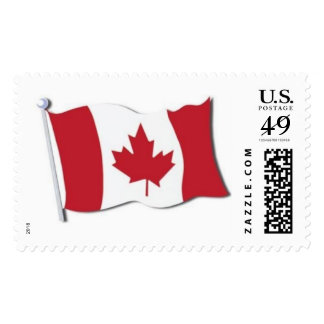 Canadaian Flag on US Postage