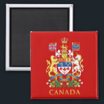 """Canada&#39;s 150th Anniversary Birthday Celebration Magnet<br><div class=""""desc"""">Canada turns 150 this year. Celebrate &amp; commemorate it with your own gorgeous keepsake souvenir featuring the Canadian Coat of Arms in gold. If you like this image,  click the available products link just under this small image,  or check out the Collection in my store. Happy 150th Birthday Canada!</div>"""