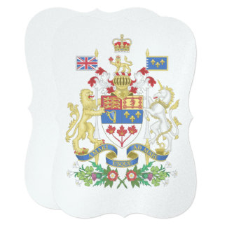 Canada's 150th Coat Of Arms Celebration Card
