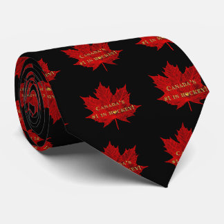 Canada's #1 in Hockey-Red Maple Leaf Tie