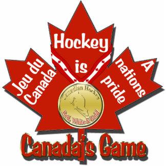 Canadas Game Hockey Tree Ornament Photo Cutouts