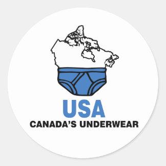 Canada's Underwear Classic Round Sticker