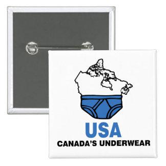 Canada's Underwear Pinback Button