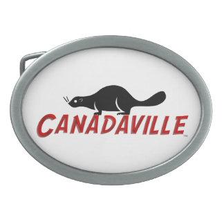 Canadaville Beaver Oval Belt Buckle