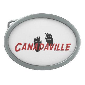 Canadaville Tracks Oval Belt Buckle