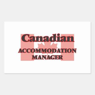 Canadian Accommodation Manager Rectangular Sticker