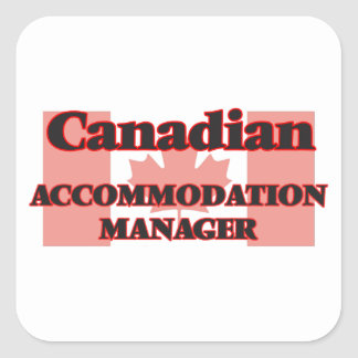 Canadian Accommodation Manager Square Sticker