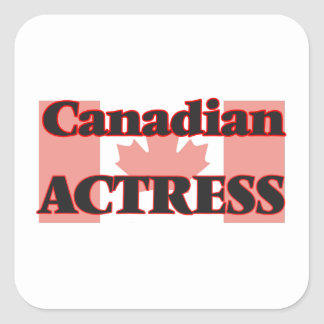 Canadian Actress Square Sticker