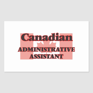 Canadian Administrative Assistant Rectangular Sticker