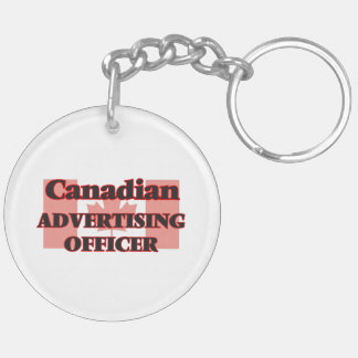Canadian Advertising Officer Double-Sided Round Acrylic Keychain