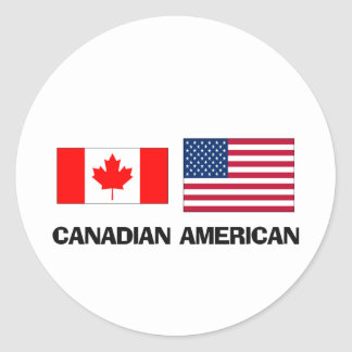 Canadian American Classic Round Sticker