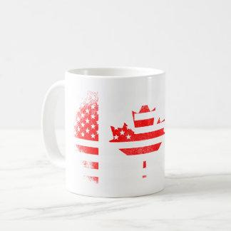Canadian American Flag   Canada and USA Design Coffee Mug