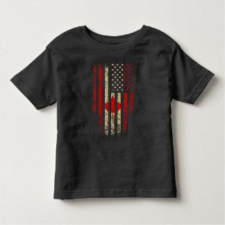 Canadian American Flag Grunge Toddler T-shirt
