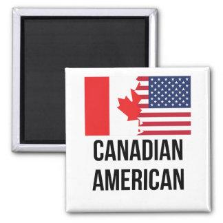 Canadian American Flag Magnet