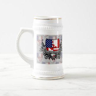 Canadian-American Shield Flag Beer Stein