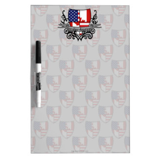 Canadian-American Shield Flag Dry Erase Board