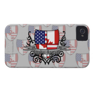 Canadian-American Shield Flag iPhone 4 Cover