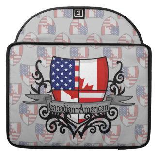 Canadian-American Shield Flag MacBook Pro Sleeve