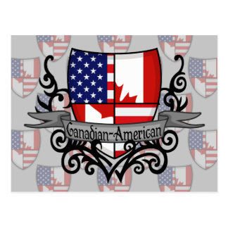 Canadian-American Shield Flag Postcard