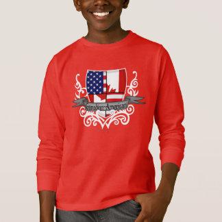 Canadian-American Shield Flag T-Shirt