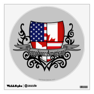 Canadian-American Shield Flag Wall Decal