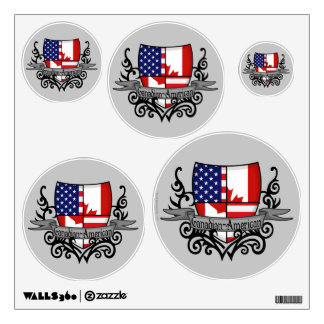 Canadian-American Shield Flag Room Graphics