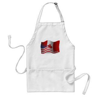 Canadian-American Waving Flag Adult Apron