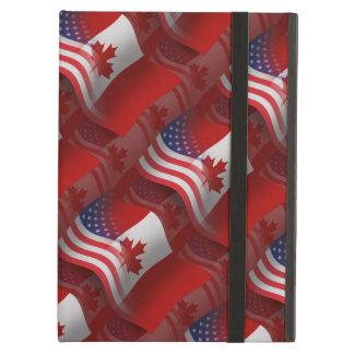 Canadian-American Waving Flag iPad Air Cover