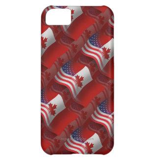 Canadian-American Waving Flag iPhone 5C Case