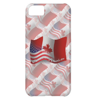 Canadian-American Waving Flag iPhone 5C Cover