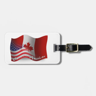 Canadian-American Waving Flag Tags For Bags