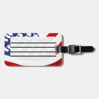 Canadian / American Waving Flag Luggage Tag