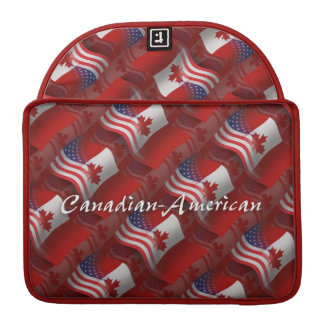 Canadian-American Waving Flag Sleeve For MacBooks