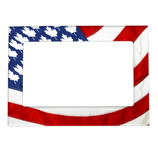 Canadian / American Waving Flag Magnetic Photo Frames