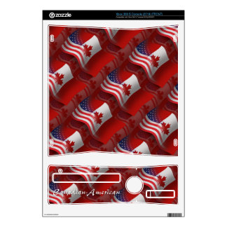 Canadian-American Waving Flag Skins For Xbox 360 S