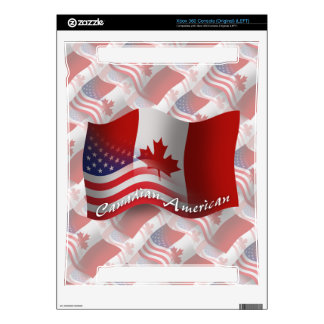 Canadian-American Waving Flag Decals For The Xbox 360