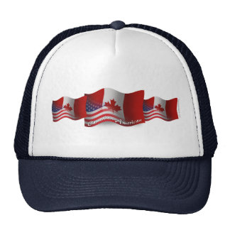 Canadian-American Waving Flag Trucker Hat