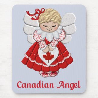 Canadian Angel Mouse Pads