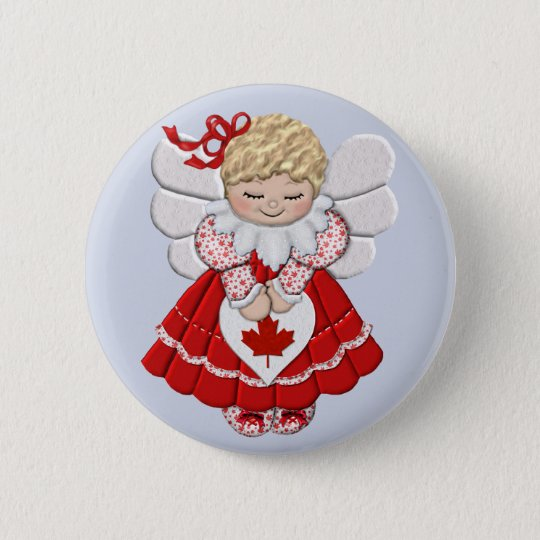 Canadian Angel Pinback Button