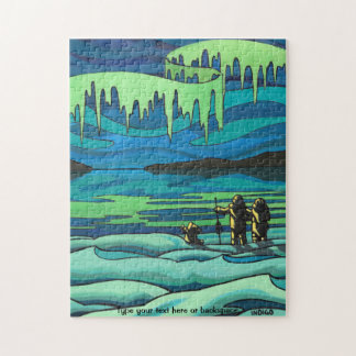 Canadian Art Puzzle Personalized Winter Landscape