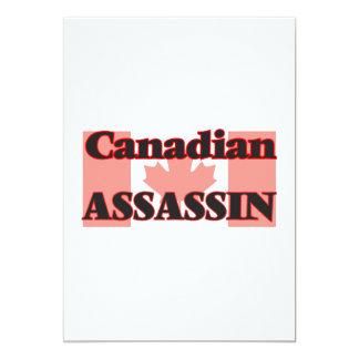 Canadian Assassin 5x7 Paper Invitation Card