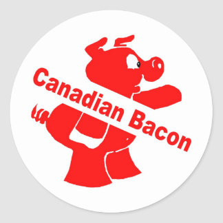Canadian Bacon Classic Round Sticker