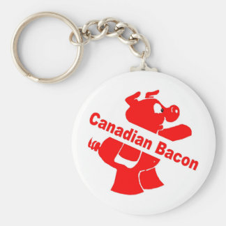 Canadian Bacon Keychain