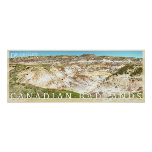 Canadian Badlands Drumheller Photo Panorama Poster