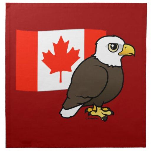 Canadian Bald Eagle Printed Napkin