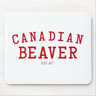 Canadian Beaver 67 Mouse Pad