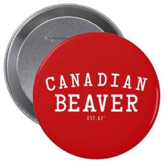 Canadian Beaver 67 Pinback Button