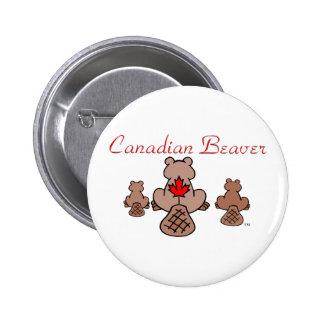 Canadian Beaver Button