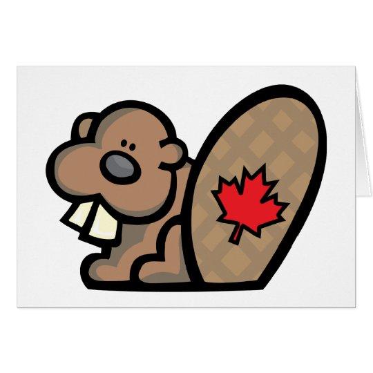 Canadian Beaver Card
